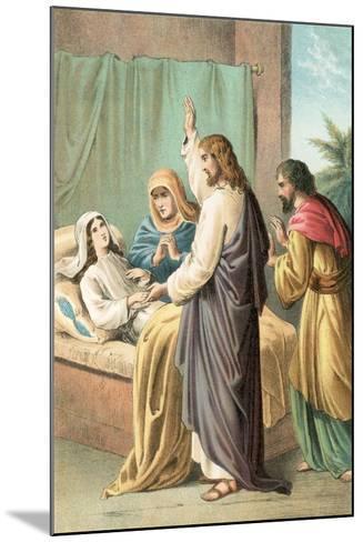 The Raising of Jairus' Daughter-English School-Mounted Giclee Print