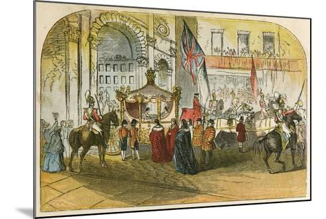 Queen Victoria's First Visit to the City (9 November 1837)-English School-Mounted Giclee Print