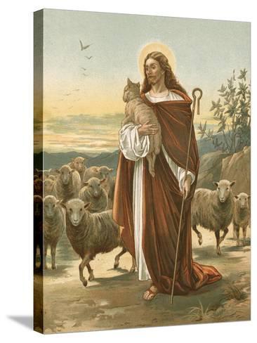 The Good Shepherd-John Lawson-Stretched Canvas Print