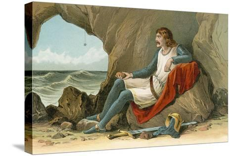 Robert the Bruce and the Spider-English School-Stretched Canvas Print