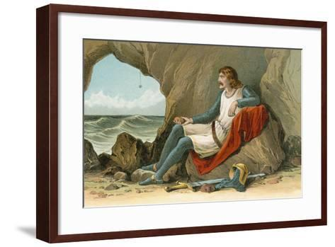 Robert the Bruce and the Spider-English School-Framed Art Print