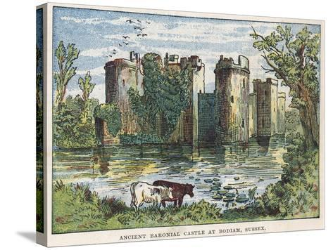 Bodiam Castle, Sussex-English School-Stretched Canvas Print