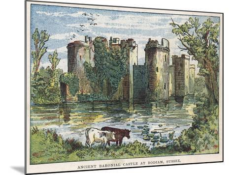 Bodiam Castle, Sussex-English School-Mounted Giclee Print