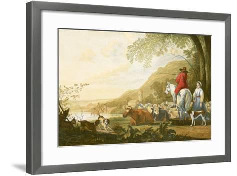 Landscape - Evening-Aelbert Cuyp-Framed Art Print