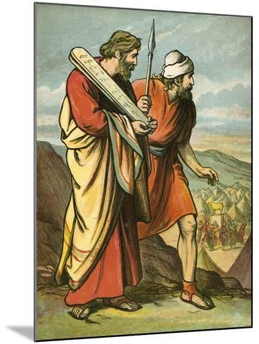 Moses and Joshua Seeing the Golden Calf-English School-Mounted Giclee Print