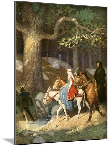 Country Folk Wending their Way to the Tourney-Newell Convers Wyeth-Mounted Giclee Print
