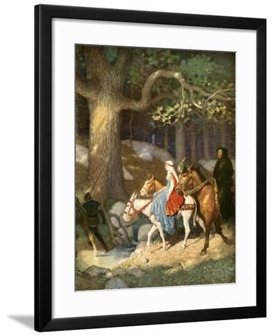Country Folk Wending their Way to the Tourney-Newell Convers Wyeth-Framed Art Print