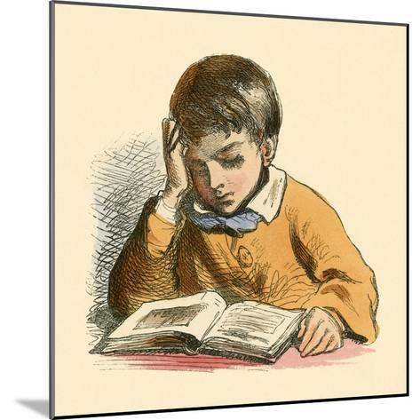 Boy Reading-English School-Mounted Giclee Print