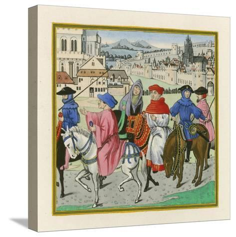 The Canterbury Pilgrimage, Late 15th Century-Henry Shaw-Stretched Canvas Print