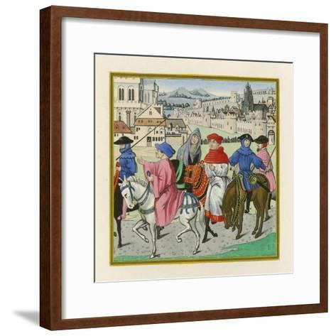 The Canterbury Pilgrimage, Late 15th Century-Henry Shaw-Framed Art Print