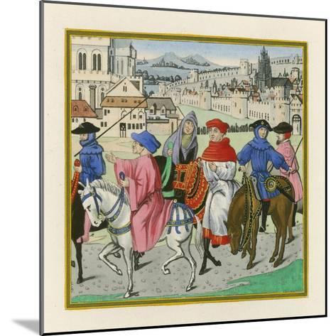 The Canterbury Pilgrimage, Late 15th Century-Henry Shaw-Mounted Giclee Print