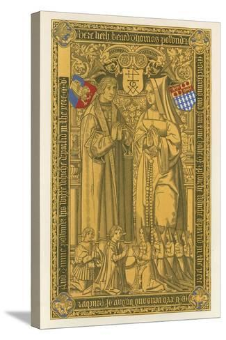 From a Brass, in the Church of St Mary Key Ipswich, 1525-Henry Shaw-Stretched Canvas Print