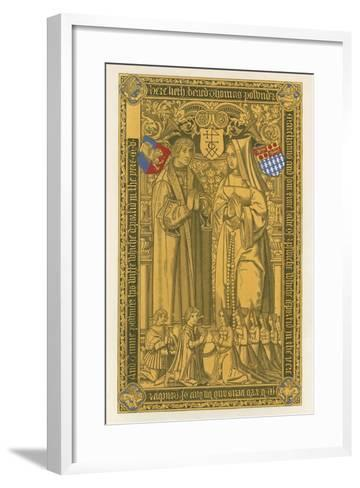 From a Brass, in the Church of St Mary Key Ipswich, 1525-Henry Shaw-Framed Art Print