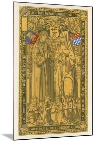 From a Brass, in the Church of St Mary Key Ipswich, 1525-Henry Shaw-Mounted Giclee Print