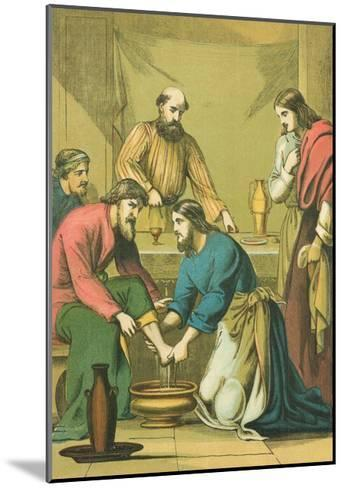 Christ Washing His Disciples' Feet-English School-Mounted Giclee Print