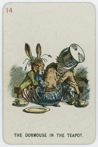 The Dormouse in the Teapot-John Tenniel-Stretched Canvas Print