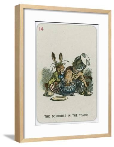 The Dormouse in the Teapot-John Tenniel-Framed Art Print
