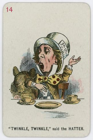 Twinkle, Twinkle, Said the Hatter-John Tenniel-Stretched Canvas Print