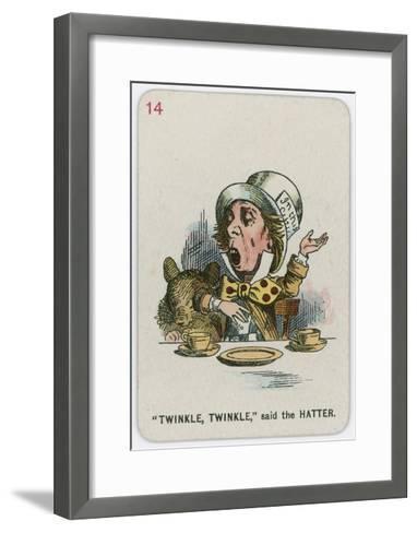 Twinkle, Twinkle, Said the Hatter-John Tenniel-Framed Art Print