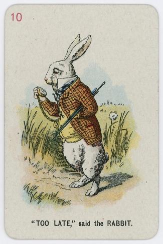 Too Late, Said the Rabbit-John Tenniel-Stretched Canvas Print