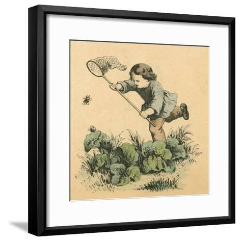 Butterflying-English School-Framed Art Print