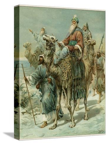 The Wise Men Seeking Jesus-Ambrose Dudley-Stretched Canvas Print