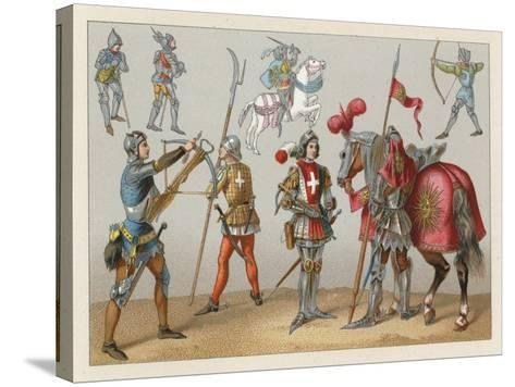 Middle Ages Costume-French School-Stretched Canvas Print