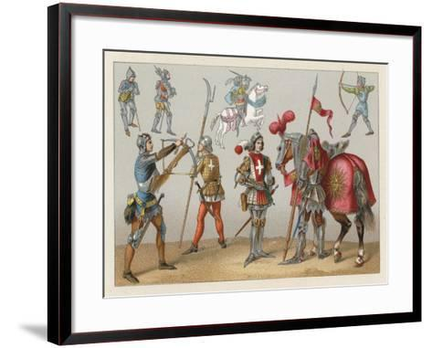 Middle Ages Costume-French School-Framed Art Print