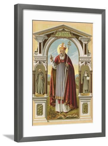 St Patrick-English School-Framed Art Print