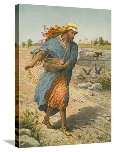 The Sower Sowing the Seed-English School-Stretched Canvas Print