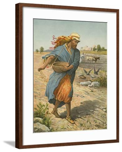 The Sower Sowing the Seed-English School-Framed Art Print