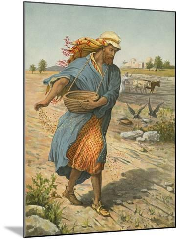 The Sower Sowing the Seed-English School-Mounted Giclee Print