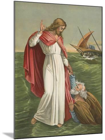 Peter Walking on the Sea-English School-Mounted Giclee Print