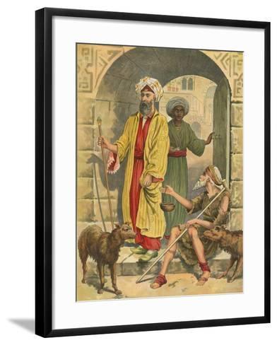 The Rich Man and Lazarus-English School-Framed Art Print