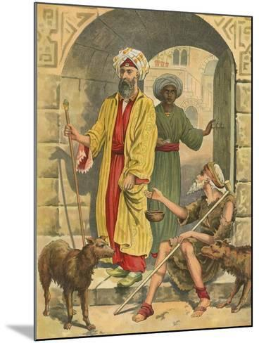 The Rich Man and Lazarus-English School-Mounted Giclee Print