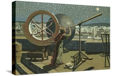 Hipparchus in the Observatory in Alexandria-Josep or Jose Planella Coromina-Stretched Canvas Print