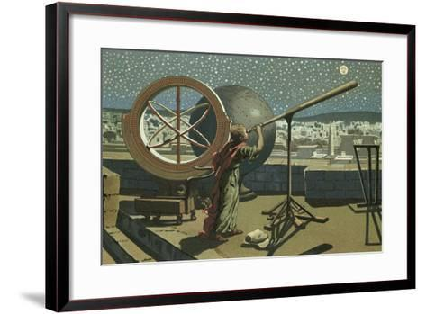 Hipparchus in the Observatory in Alexandria-Josep or Jose Planella Coromina-Framed Art Print