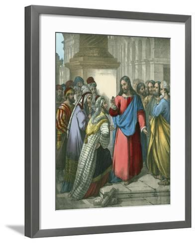 The Tribute Money-Siegfried Detler Bendixen-Framed Art Print