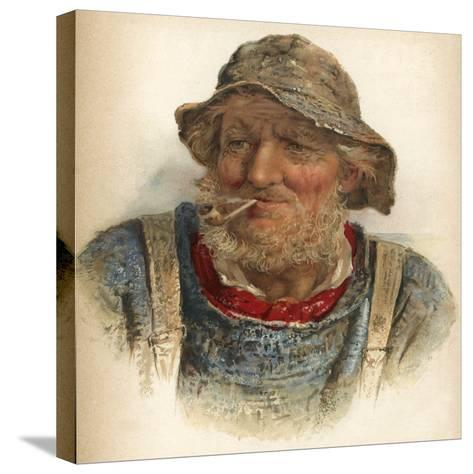 An Old Salt-James Drummond-Stretched Canvas Print