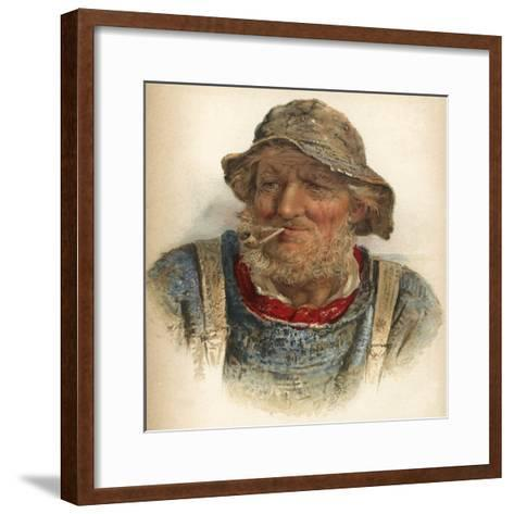An Old Salt-James Drummond-Framed Art Print