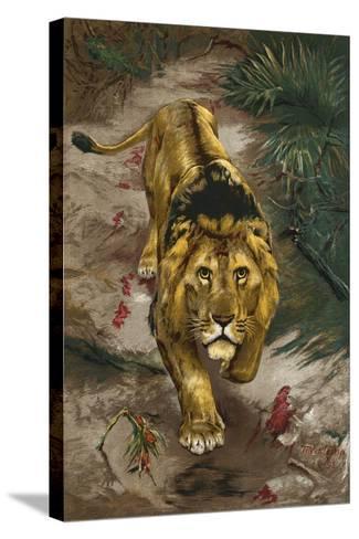 The Blood Trail-John Trivett Nettleship-Stretched Canvas Print