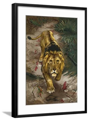 The Blood Trail-John Trivett Nettleship-Framed Art Print