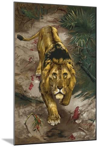 The Blood Trail-John Trivett Nettleship-Mounted Giclee Print