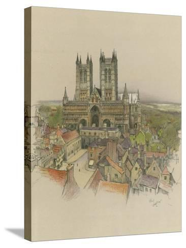 Lincoln Cathedral-Cecil Aldin-Stretched Canvas Print