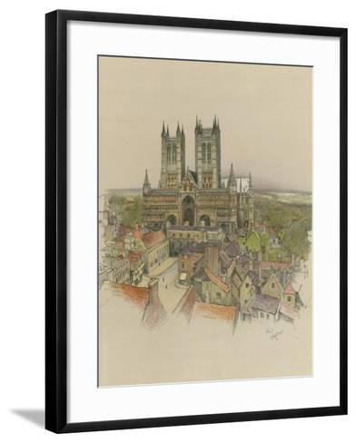 Lincoln Cathedral-Cecil Aldin-Framed Art Print