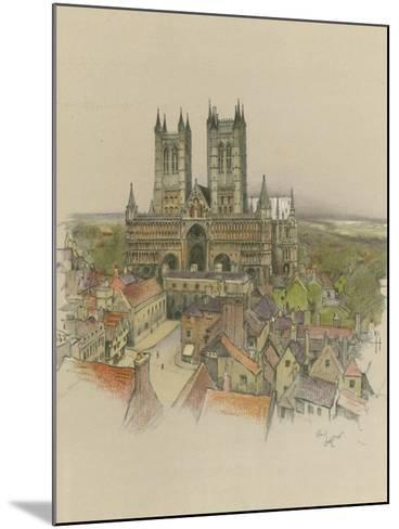 Lincoln Cathedral-Cecil Aldin-Mounted Giclee Print