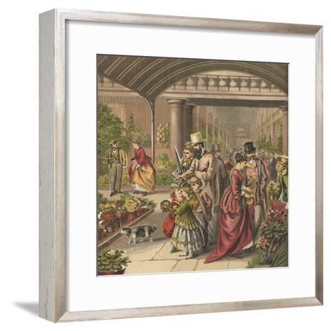 Flower Market-English School-Framed Art Print