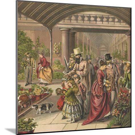 Flower Market-English School-Mounted Giclee Print