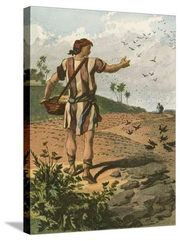 The Sower-English School-Stretched Canvas Print