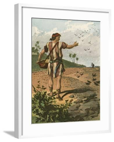 The Sower-English School-Framed Art Print
